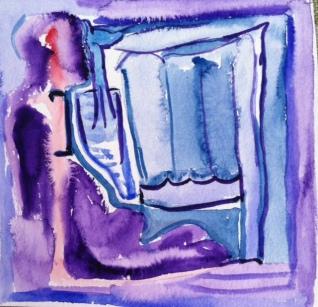 A blue door