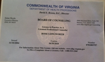 I have been practicing as a Licensed Professional Counselor since 2004