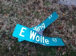 The street signs