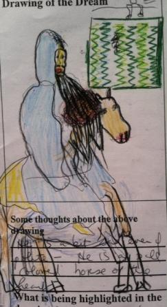 Jesus one the donkey