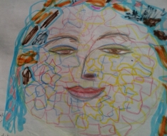 Old mandala art - self portrait