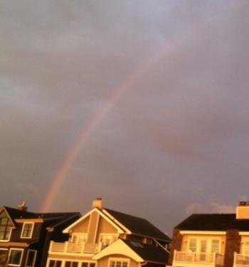 A surprise rainbow.