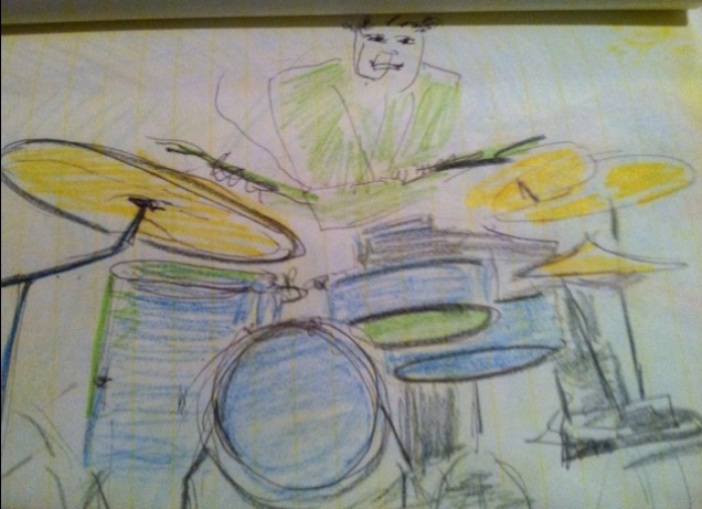 Fun times on the drums