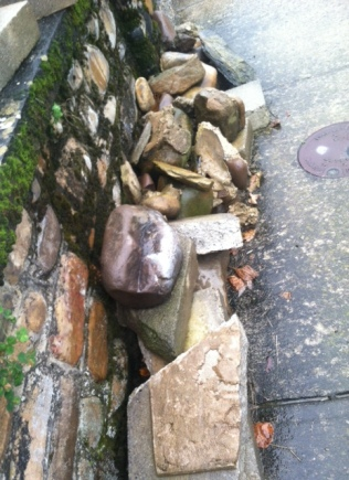 Left over stones after repairs